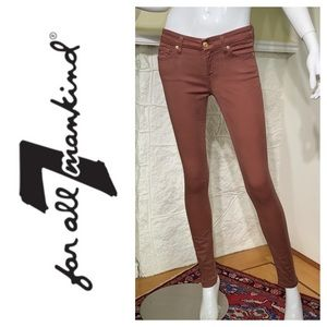 7 For All Mankind Skinny Slim Illusion Jeans